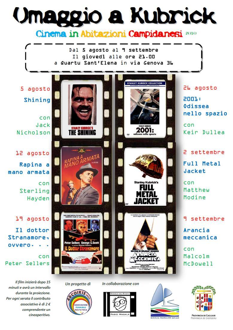 Locandina Omaggio a Kubrick